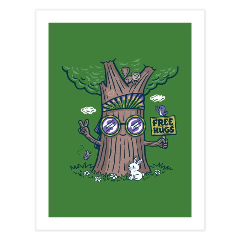 Tree Hugger Home Fine Art Print by Made With Awesome