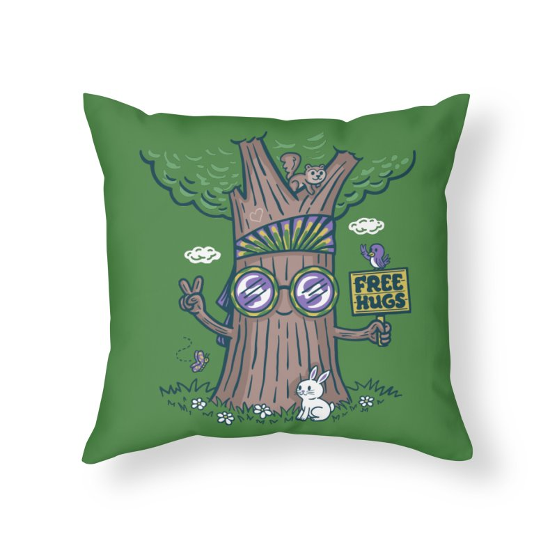 Tree Hugger Home Throw Pillow by Made With Awesome