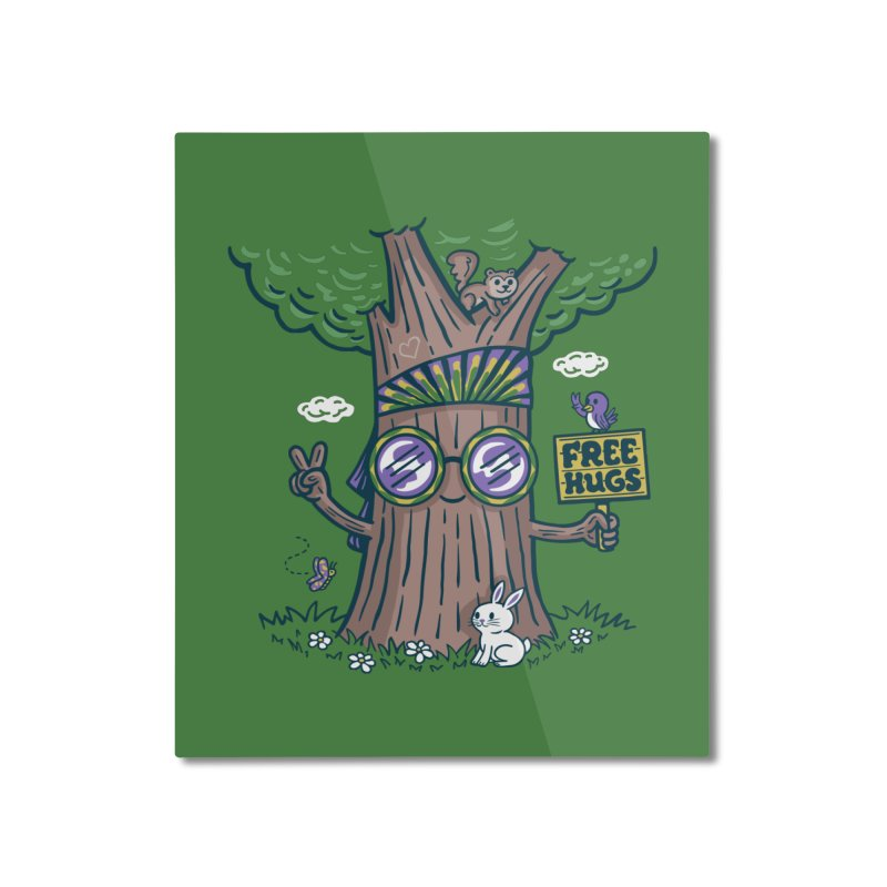 Tree Hugger Home Mounted Aluminum Print by Made With Awesome