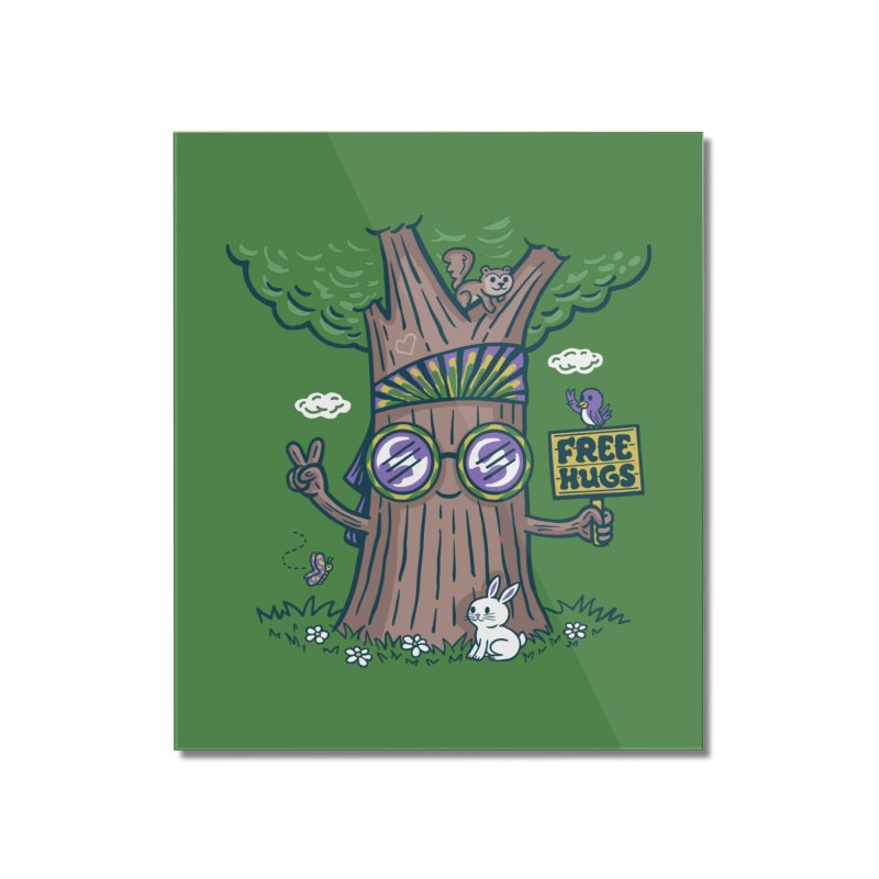 Tree Hugger Home Mounted Acrylic Print by Made With Awesome