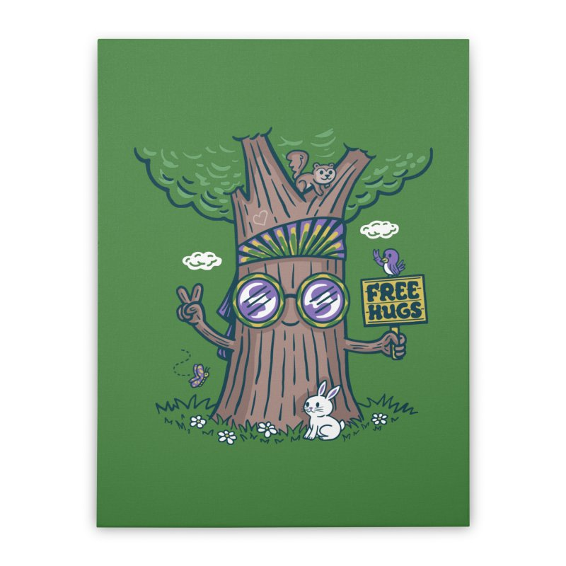 Tree Hugger Home Stretched Canvas by Made With Awesome