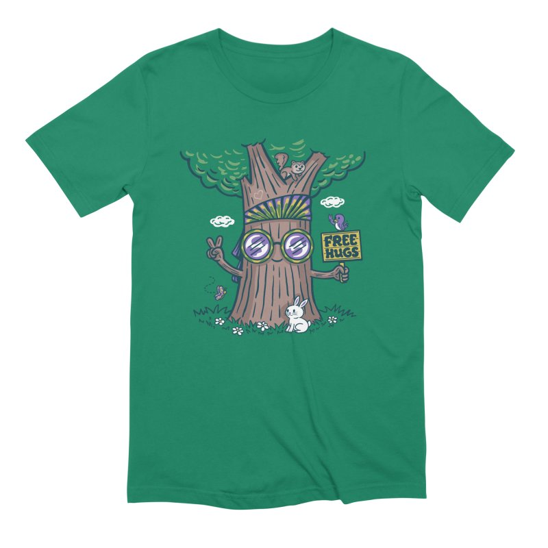 Tree Hugger Men's T-Shirt by Made With Awesome