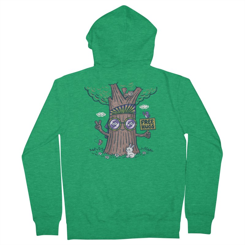 Tree Hugger Women's Zip-Up Hoody by Made With Awesome