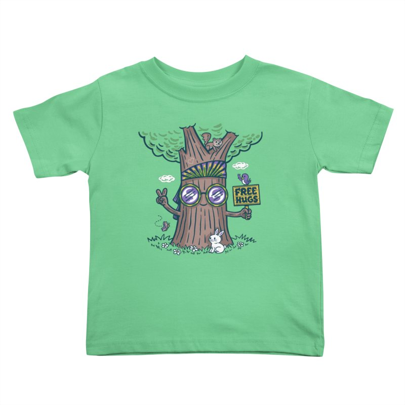 Tree Hugger Kids Toddler T-Shirt by Made With Awesome