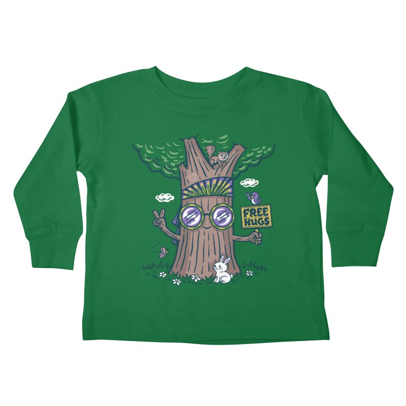 Tree Hugger Kids Toddler Longsleeve T-Shirt by Made With Awesome