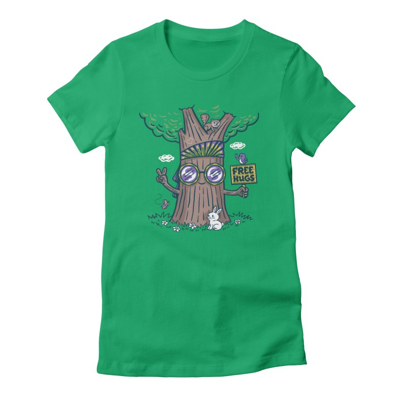 Tree Hugger Women's Fitted T-Shirt by Made With Awesome