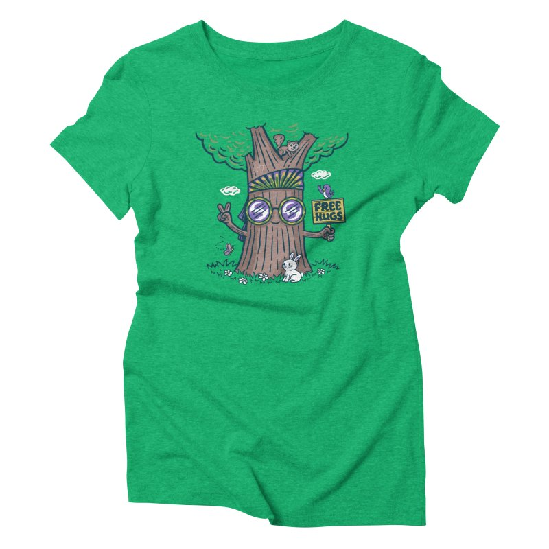 Tree Hugger Women's Triblend T-Shirt by Made With Awesome