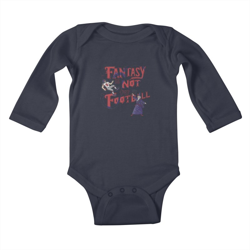 Fantasy Not Football Kids Baby Longsleeve Bodysuit by Made With Awesome