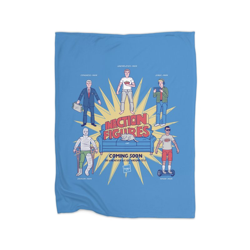 Inaction Figures Home Blanket by Made With Awesome