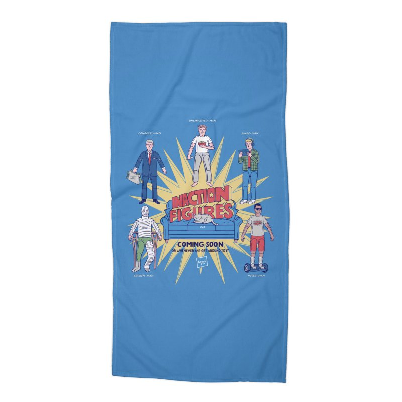 Inaction Figures Accessories Beach Towel by Made With Awesome