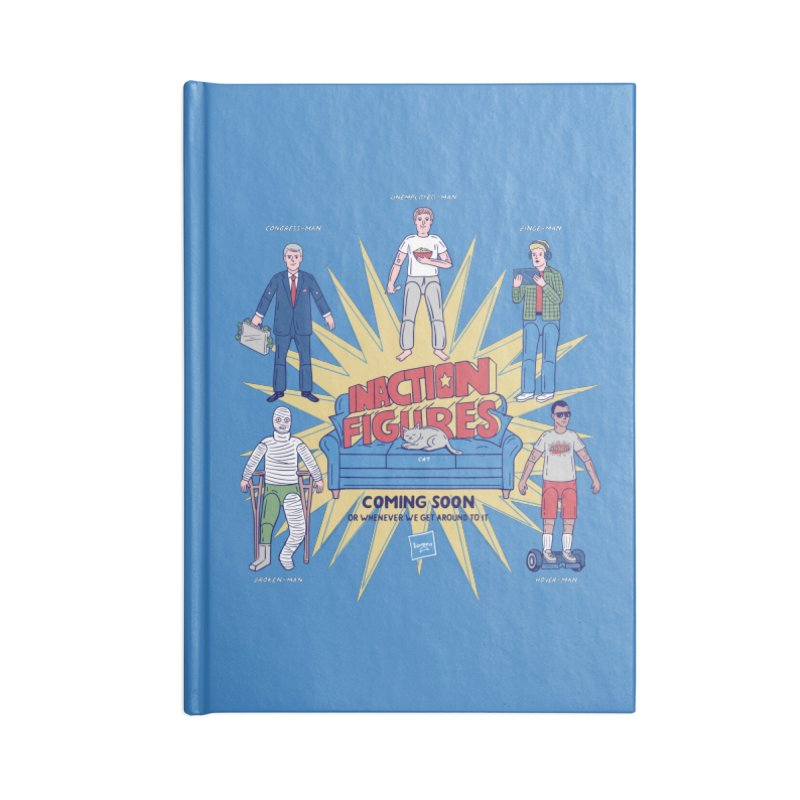 Inaction Figures Accessories Notebook by Made With Awesome