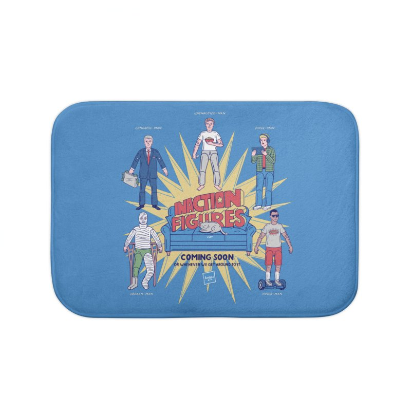 Inaction Figures Home Bath Mat by Made With Awesome