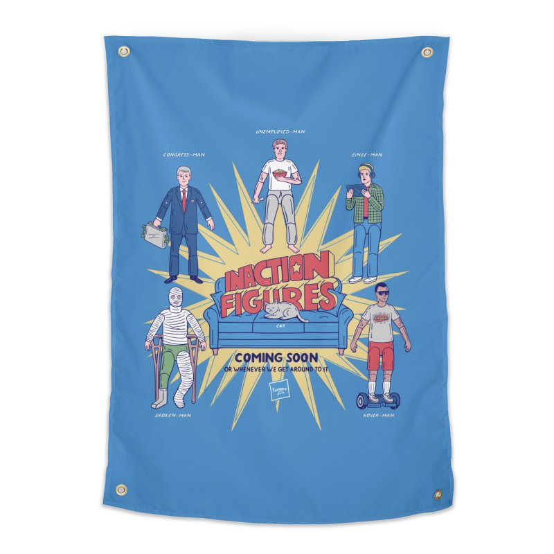 Inaction Figures Home Tapestry by Made With Awesome