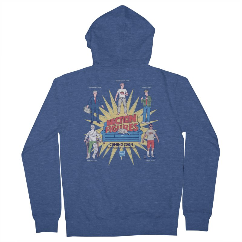 Inaction Figures Men's Zip-Up Hoody by Made With Awesome