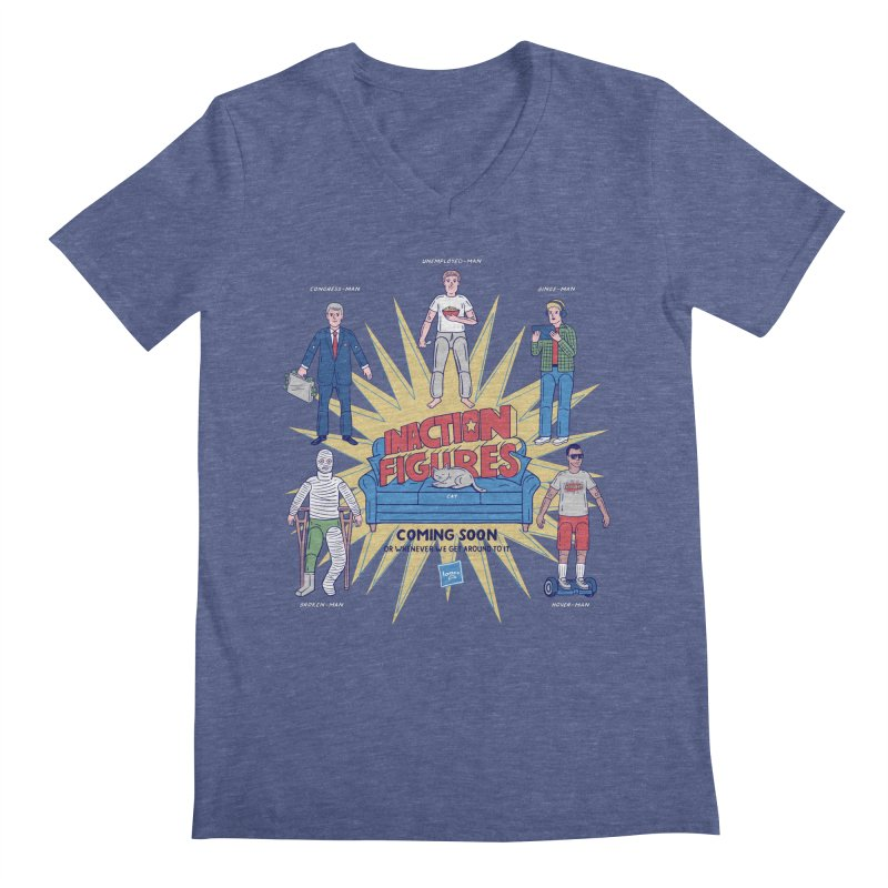 Inaction Figures Men's V-Neck by Made With Awesome