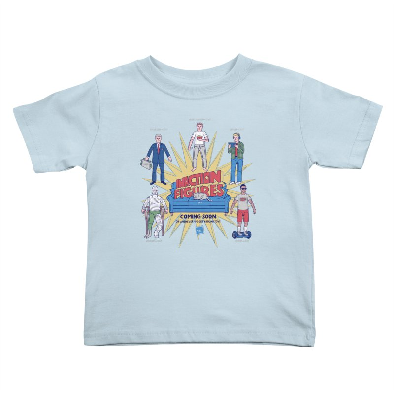 Inaction Figures Kids Toddler T-Shirt by Made With Awesome