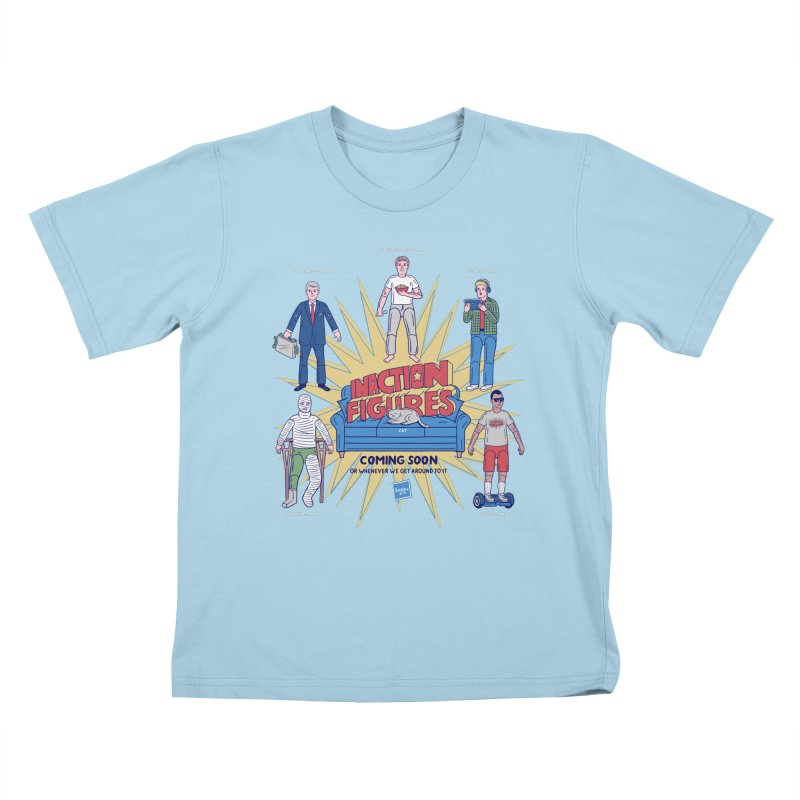 Inaction Figures Kids T-Shirt by Made With Awesome