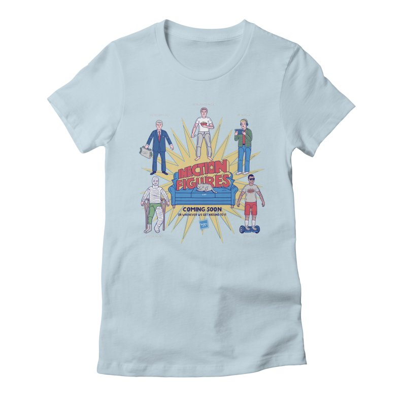 Inaction Figures Women's Fitted T-Shirt by Made With Awesome