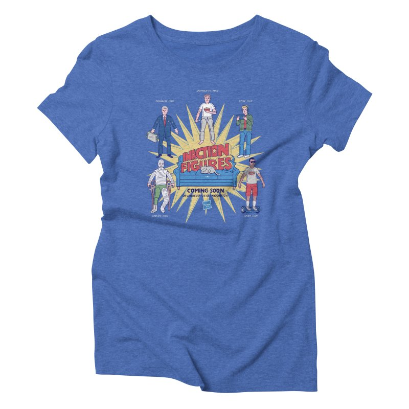 Inaction Figures Women's Triblend T-Shirt by Made With Awesome