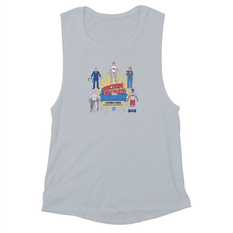 Inaction Figures Women's Muscle Tank by Made With Awesome