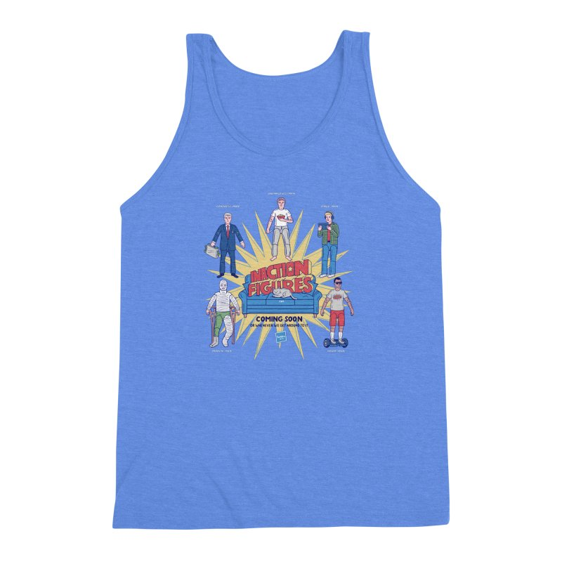 Inaction Figures Men's Triblend Tank by Made With Awesome