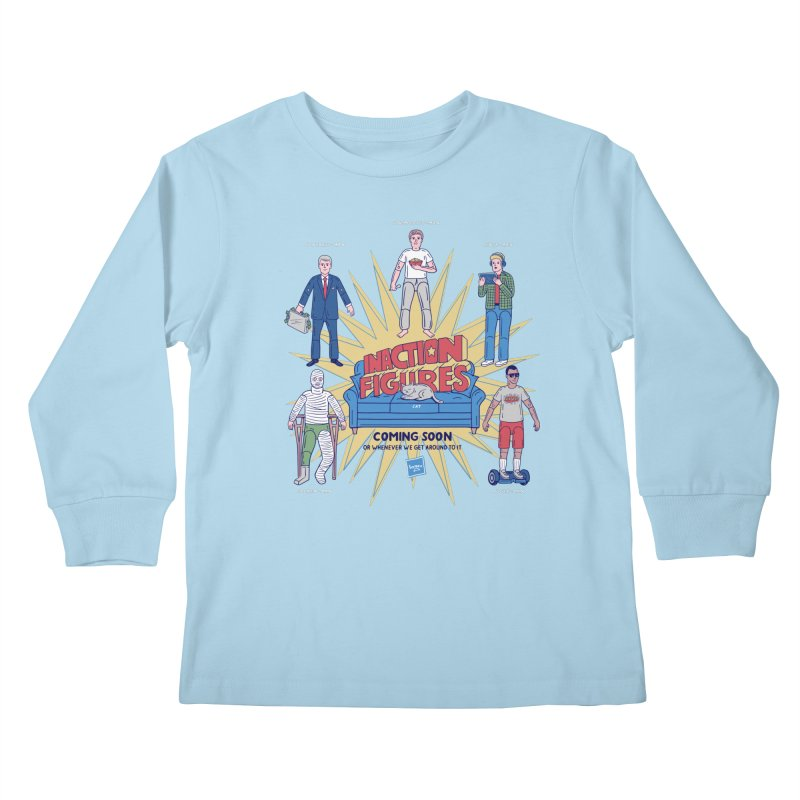 Inaction Figures Kids Longsleeve T-Shirt by Made With Awesome