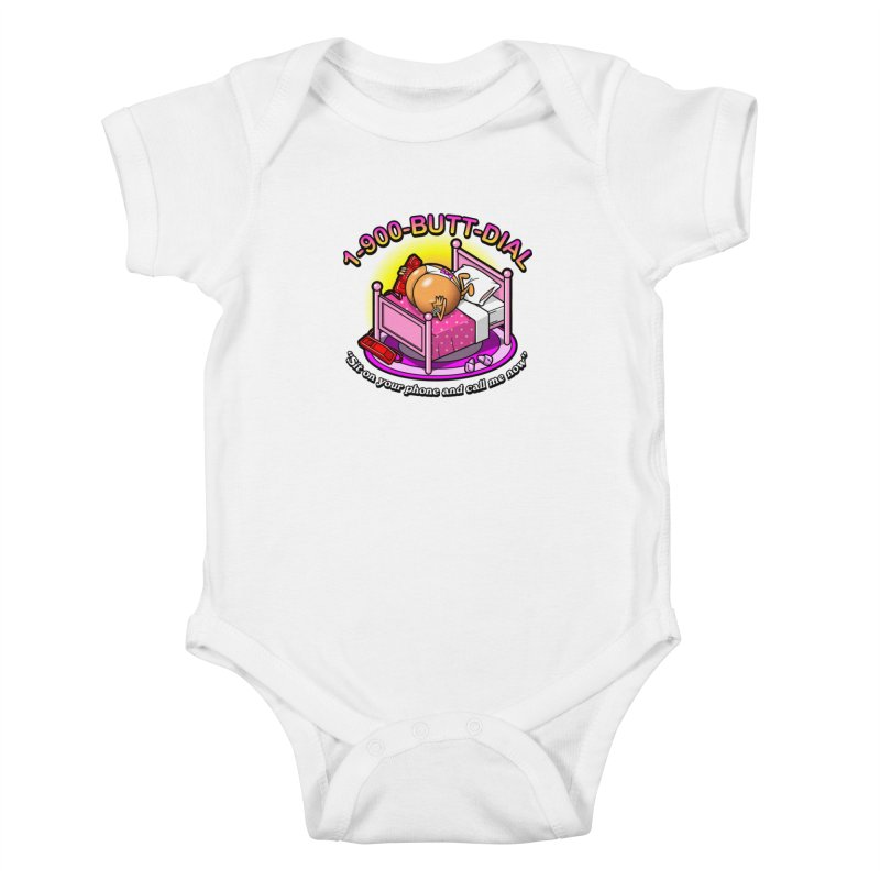 Booty Call Kids Baby Bodysuit by Made With Awesome