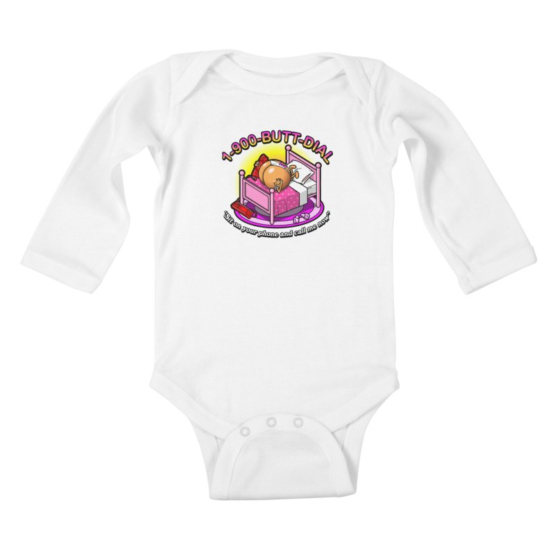 Booty Call Kids Baby Longsleeve Bodysuit by Made With Awesome