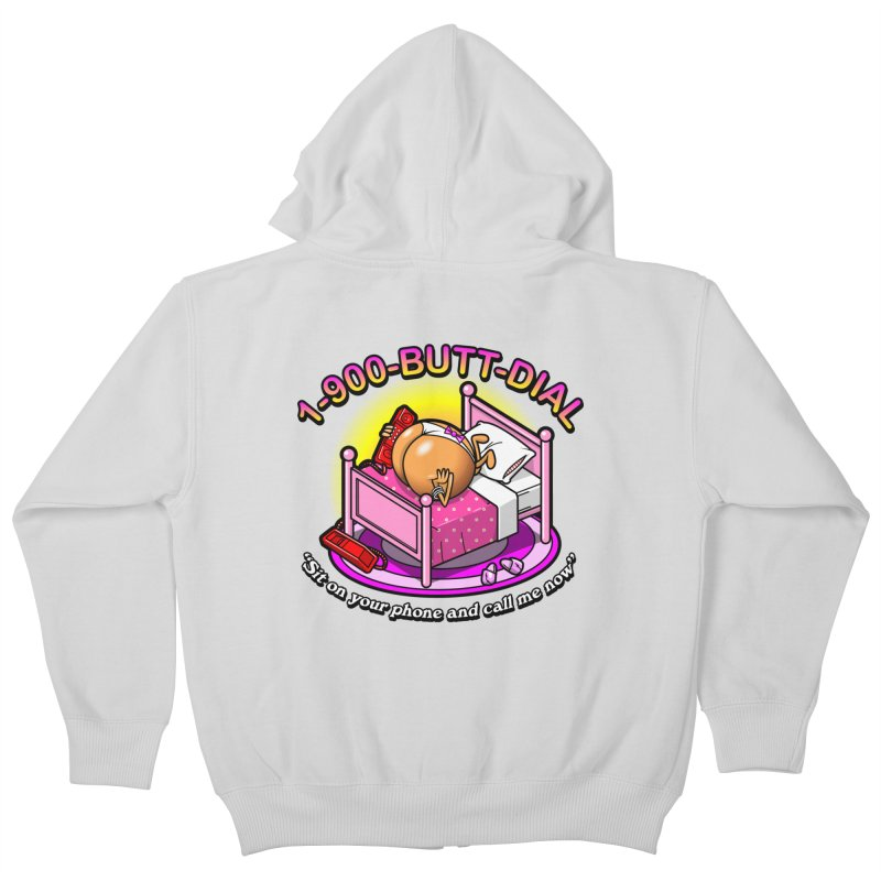 Booty Call Kids Zip-Up Hoody by Made With Awesome