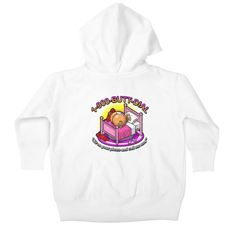 Booty Call Kids Baby Zip-Up Hoody by Made With Awesome
