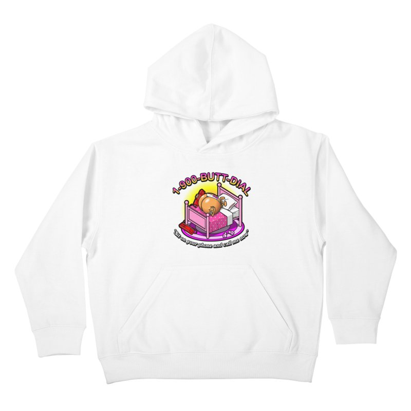 Booty Call Kids Pullover Hoody by Made With Awesome