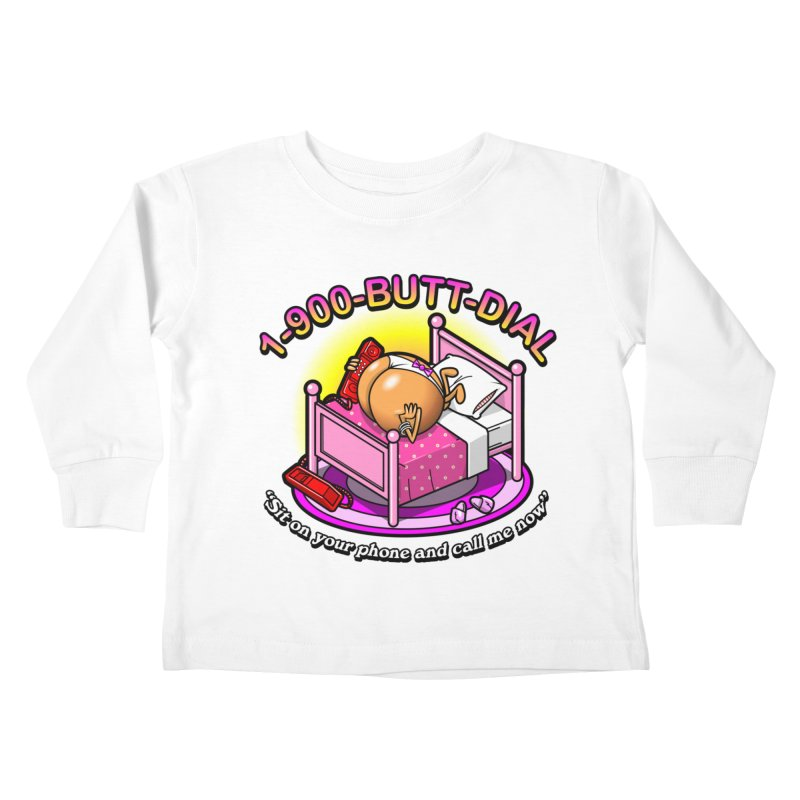 Booty Call Kids Toddler Longsleeve T-Shirt by Made With Awesome