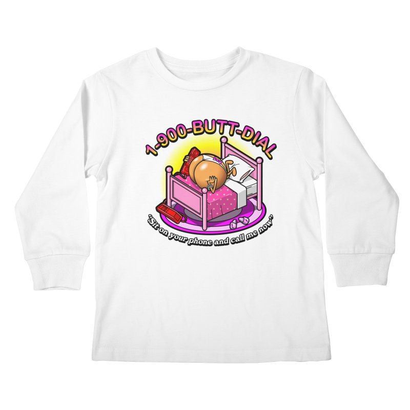 Booty Call Kids Longsleeve T-Shirt by Made With Awesome