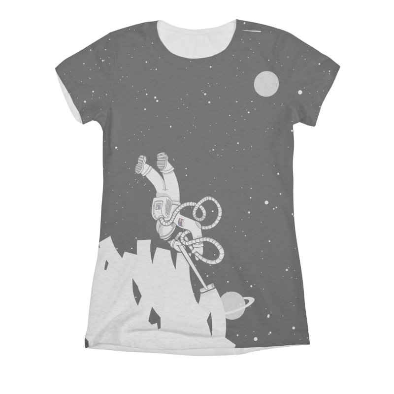 Vacuum of Space Women's All-Over Print Triblend T-Shirt by Made With Awesome