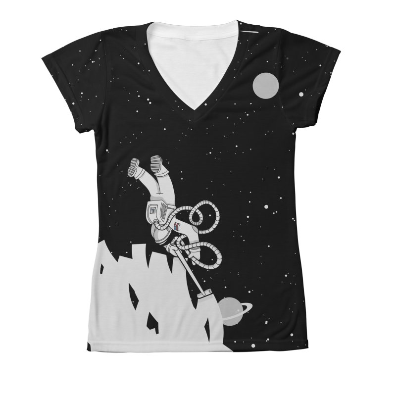 Vacuum of Space Women's All-Over Print V-Neck by Made With Awesome