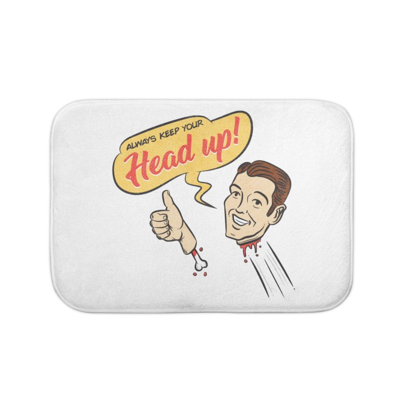 Heads Up Home Bath Mat by Made With Awesome