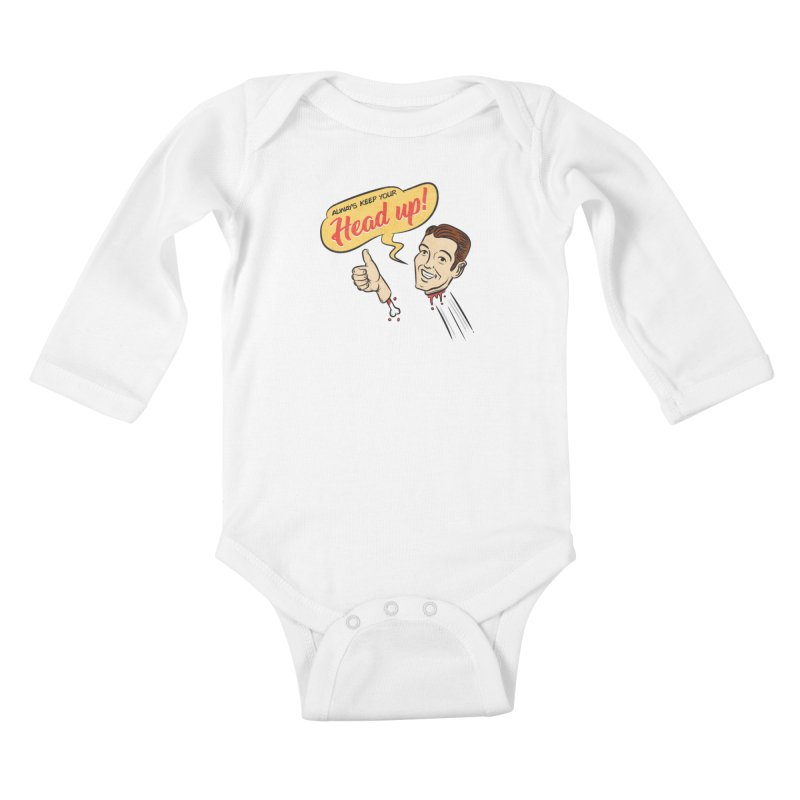 Heads Up Kids Baby Longsleeve Bodysuit by Made With Awesome