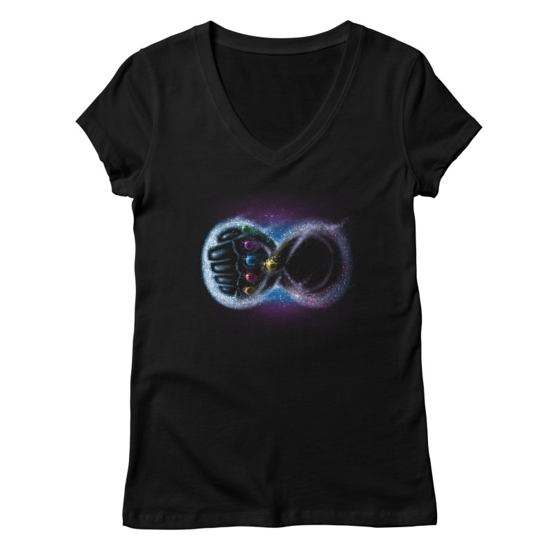 Infinity Galaxy Women's V-Neck by Made With Awesome