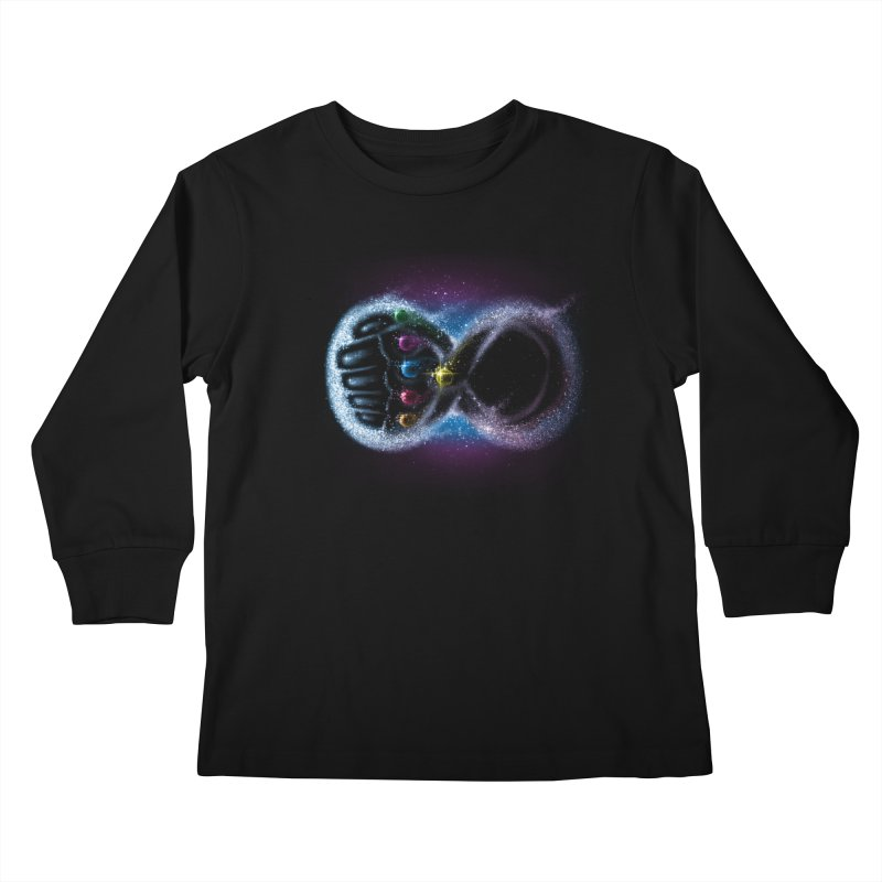 Infinity Galaxy Kids Longsleeve T-Shirt by Made With Awesome