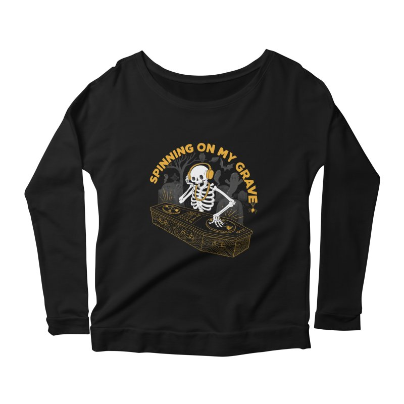 RIP: Rave in Peace Women's Longsleeve Scoopneck  by Made With Awesome