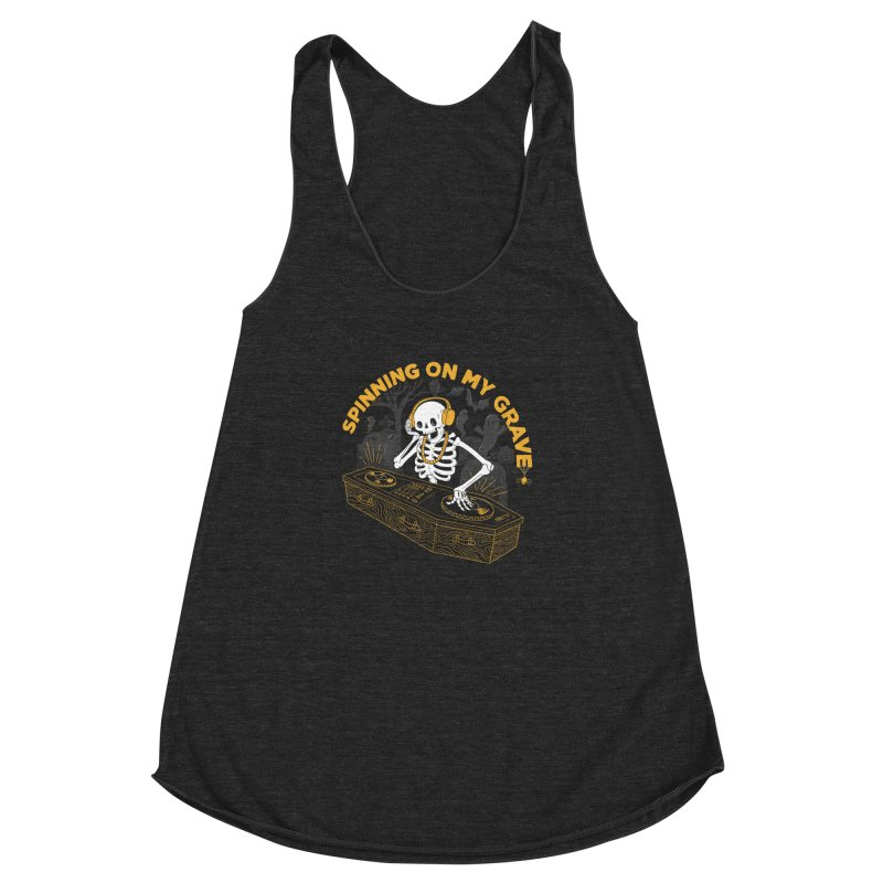 RIP: Rave in Peace Women's Racerback Triblend Tank by Made With Awesome