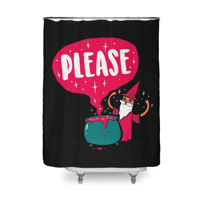 The Magic Word Home Shower Curtain by Made With Awesome