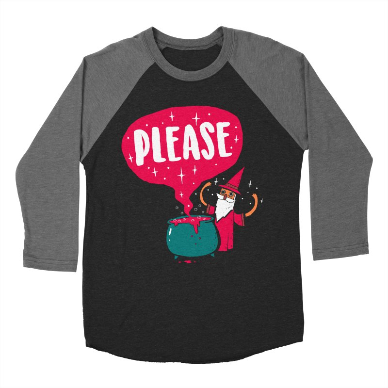 The Magic Word Men's Baseball Triblend Longsleeve T-Shirt by Made With Awesome