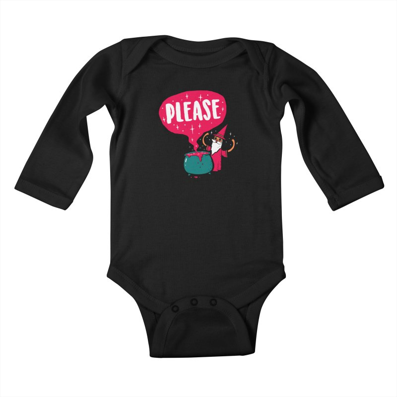 The Magic Word Kids Baby Longsleeve Bodysuit by Made With Awesome