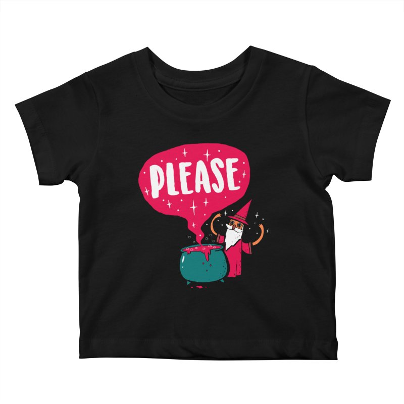 The Magic Word Kids Baby T-Shirt by Made With Awesome