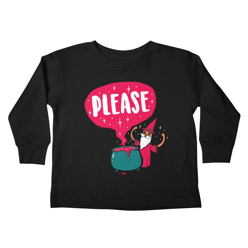 The Magic Word Kids Toddler Longsleeve T-Shirt by Made With Awesome