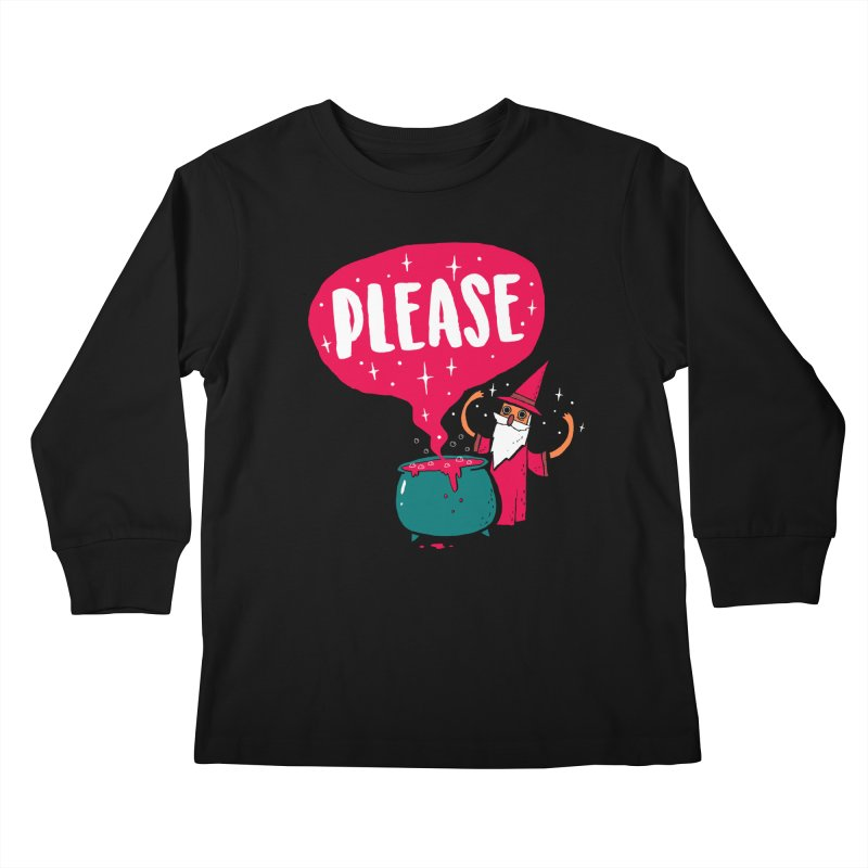 The Magic Word Kids Longsleeve T-Shirt by Made With Awesome