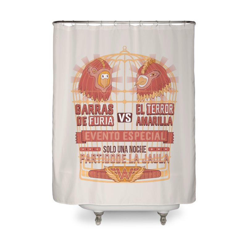 Ultimate Cage Match Home Shower Curtain by Made With Awesome