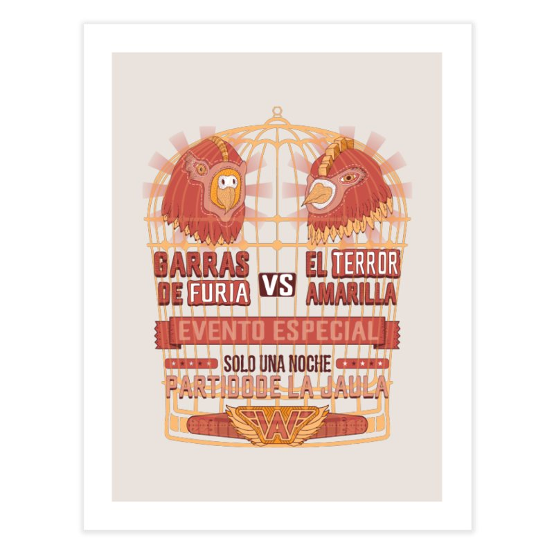 Ultimate Cage Match Home Fine Art Print by Made With Awesome