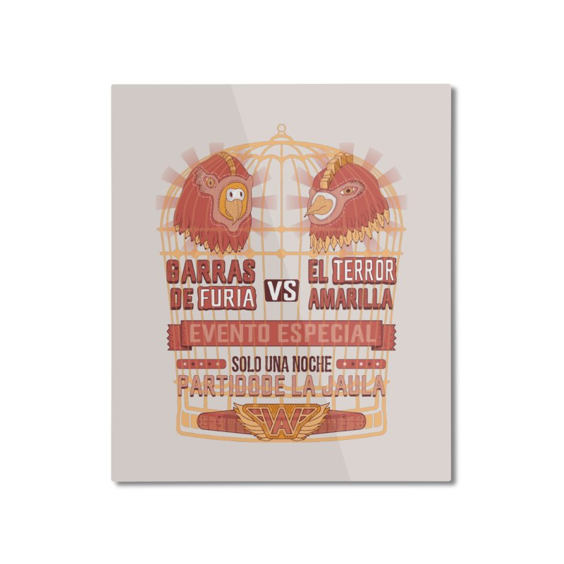 Ultimate Cage Match Home Mounted Aluminum Print by Made With Awesome